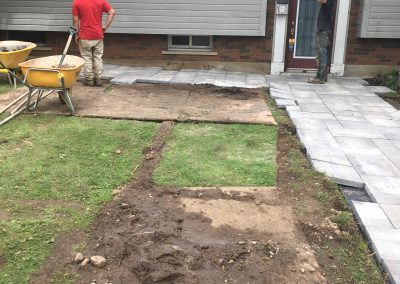 Front Walkway During